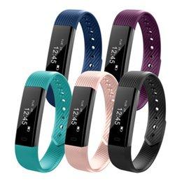 2020 lg smart band ID115 intelligente Bracciale Fitness Tracker Step Counter Activity Monitor Banda sveglia vibrazioni Wristband per Samsung Android LG lg smart band economici