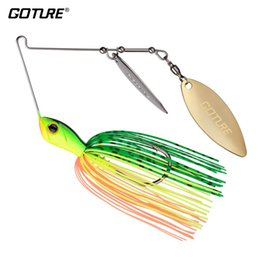 buzzbait lures Promo Codes - Fishing Lures Goture New Spinnerbait Fishing Lure Metal Spoon Bass Buzzbait with 360 Degree Rotating Double Willow Sequins Jigging Lure P...