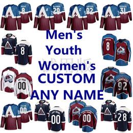 2019 hoodie do estilo do hóquei Colorado Avalanche Jerseys Nathan MacKinnon Jersey Gabriel Landeskog Nikita Zadorov Philipp Grubauer Cale Makar Ice Hockey Jerseys costurado