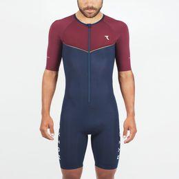 Traje de ciclismo para hombre online-2019 Pro Team Triatlón Traje masculino Ciclismo Jersey corto Traje mono Maillot Ciclismo Ropa ciclismo conjunto 026