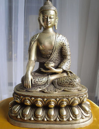 Statua tibetana online-xd 003020 collectibles Tibetan Buddhist bronze shakyamuni buddha statue 36cm