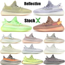 3m scarpe online-adidas yeezy 350 Kanye West ctrin cloud white lundmark synth antliablack static 3M scarpe da corsa riflettenti uomo donna luxury fashion designer shoes