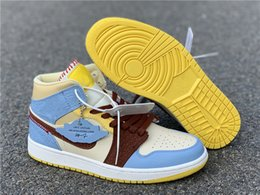 migliori scarpe da basket esterne Sconti Maison Chateau x 1 Mid Fearless scarpe da basket migliore qualità CU2803-200 donne Mens 1s Outdoor Sports Sneakers