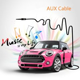 50cm 100cm Hi Fi Car Aux Cable Line Universal for 3.5mm Hole MP3 Tablet Laptop IPhone IPad Macbook Samsung Galaxy Headphone