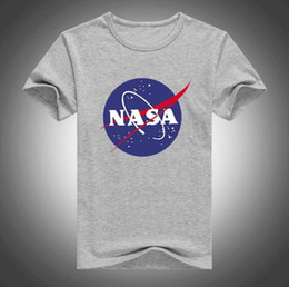 2019 camisetas gráficas de verano para hombre 2019 NASA Space Mens Retro T-shirt Harajuku Men Summer T Shirts 100% Cotton Graphics T Shirt Casual Mens Tee camisetas gráficas de verano para hombre baratos