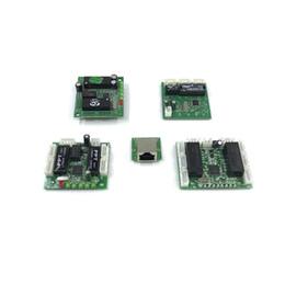 circuito de placa base Rebajas Mini tarjeta de circuito interruptor de Ethernet diseño del módulo para el módulo de conmutador Ethernet 10 / 100Mbps 3/5/6/8 bordo puerto PCBA OEM placa madre