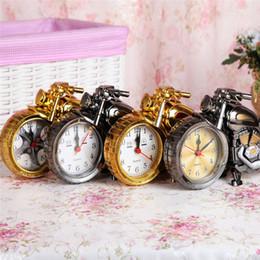relógios de mesa de cerâmica Desconto Criativo Retro Despertador Motocicleta / Trem / Bicicleta Modelo Mesa Relógios Desktop Decoração Presente Do Namorado
