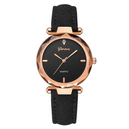 Женева кварцевые часы онлайн-2019 Montre Femme Watch Women Fashion Leather Band Geneva Analog ladies Watches Quartz Diamond Wrist Watch  Relogio reloj
