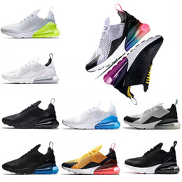 Tiger laufschuhe online-nike AIR MAX 270 SHOES airmax maxes 270s Men Hot Punch Weiß Schwarz RACER BLUE Laufschuhe Damen Sneaker Rot Orbit Trainer Sport Männer Athletic Jogging Outdoor Schuh