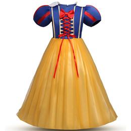 Crianças roupas de cinderela rainha da neve vestidos de roupas cosplay vestidos de tule eveving partido crianças meninas princess dress 5-14ano traje adolescente de Fornecedores de novo modelo meninas vestido imagem