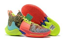 супер дешевые баскетбольные туфли Скидка 2019 Рассел Уэстбрук 2 Почему Не Zer0.2 Гром Мужская Баскетбольная Обувь Дешевые Черные Супер Многоцветные Спортивные Кроссовки Размер 7-12