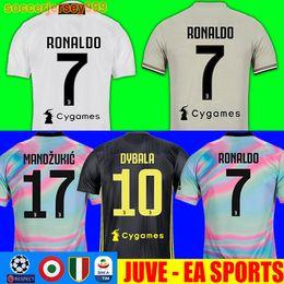 65c58ff9dfd TOP Thailand RONALDO 18 19 Juventus soccer jersey football shirt  Bernardeschi 2018 2019 DYBALA PJANIC MATUIDI uniforms JUVE EA sports third