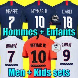 Chemise neymar en Ligne-NEYMAR MBAPPE ICARDI MAILLOTS DE FOOTBALL PSG JORDAN 19 20 soccer jersey de la psg 2019 2020 maillot de foot Paris saint germain Champion kit chemise PSG enfant SETS enfants