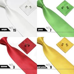 Deutschland Mens Krawatte Set Manschettenknöpfe Taschentuch Business Krawatte Breite Gitter Krawatten Klassische Formale 15 Farben Heißer Verkauf 10bb D1 Versorgung