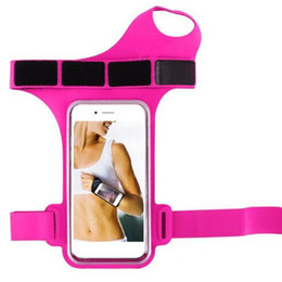 Ремень для телефона онлайн-5.5in Gym Jogging Arm Running Bag Wrist With Belt Cycling Strap Phone Wristband For IPhone