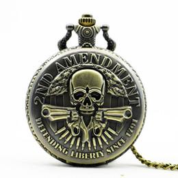 Argentina Vintage Steampunk Bronce Cráneo de Alta Calidad Reloj de Bolsillo de Cuarzo Estilo de Moda Mejor Regalo de Navidad Colgante TD2022 Suministro