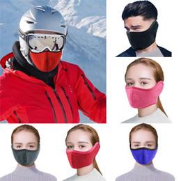 2019 atacado de fone de ouvido no inverno Ajustável inverno à prova de poeira respirável malha bicicleta máscara de pó Smog Windproof Protective malha bicicleta MTB Ciclismo Ear Máscara W3