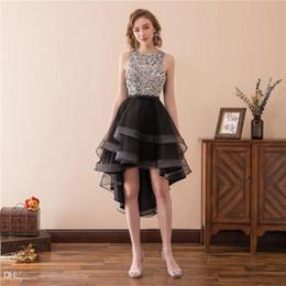 Bauble Elegante Vestidos De Baile Con Cuentas De Lentejuelas Rhinestone Volver Diseño Especial Frente Corto Vestido De Cóctel Largo Vestido De Fiesta