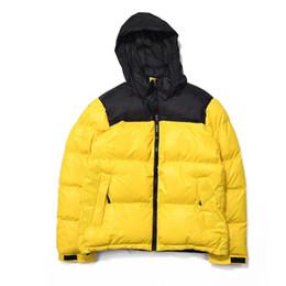 2019 capucha chaqueta de pana Diseñador de la calle Para hombre Parkas Abrigos bajos Chaquetas Invierno Mantener abrigos con cremallera abrigos gruesos Patchwork Carta Bordado M-XL