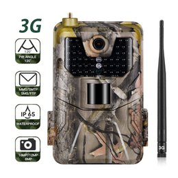 2019 cámara oculta al aire libre 3G MMS SMTP SMS Caza Trail Cámara HC900G 16MP 1080P Cámaras infrarrojas Celular Móvil Vida silvestre Cámaras inalámbricas