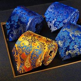 regalos para el año nuevo chino Rebajas Nuevo diseño para hombre corbata hombre de lujo estilo chino Nanjing Yunjin corbatas oficina clásica negocios casual corbata regalo de año nuevo