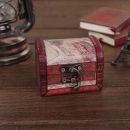 Старинные ювелирные изделия Box организатор футляр для хранения мини дерево письмо Pattern металлический контейнер ручной деревянные небольшие коробки от