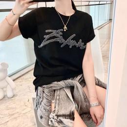 Canada Paillettes De Cristal De Mode Femmes Designer T Shirts Femmes Designer Vêtements Top Manches Courtes Femmes Vêtements Taille S-XL Offre