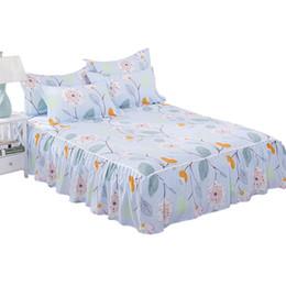 cobertor de coberta contornado Desconto 1 Peça de Beleza Floral Cama Saia para Crianças Adultos Único Cama de Casal 100% Poliéster Lixar Saias (Sem Fronha) XF634-27