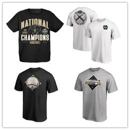 série mundial de esportes Desconto Preto Vanderbilt Commodores 2019 NCAA Beisebol Colégio World Series Nacional Campeões Camisetas Esporte camisas ao ar livre impresso logos 18 19