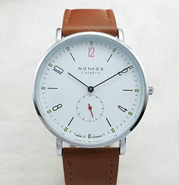 nomos watches Promo Codes - 2019 New luxury watch Brand NOMOS Waterproof Quartz Watch Men Leather Dress Wristwatches Fashion Casual Watches Women