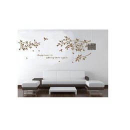Calcomanías ramas online-Etiqueta de la pared extraíble Etiqueta Rama Pájaros Art Decals Mural DIY Wallpaper para la decoración de la habitación 60 * 75 cm