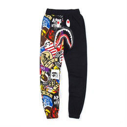 caldo pantaloni giapponesi Sconti Hot A Bathing aape Ape Japan Uomo 19Bape Shark Jaw Pantalone Camo Print Colour Pants pantaloni da uomo di design