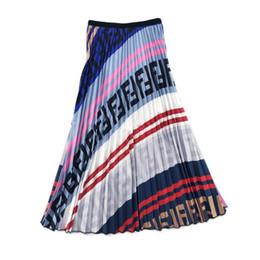Jupe parapluie en Ligne-Lettre FF Imprimer Femmes Robes Dames De Luxe Designer Coloré Été Jupe Plissée Taille Élastique Parapluie Jupe