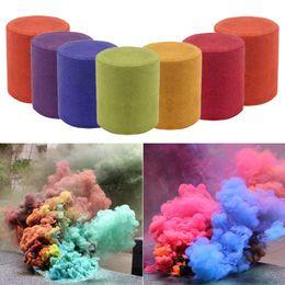 2019 peonia nera artificiale 7 colori fumo fumo torta spettacolo tondo bomba fase fotografia aiuti strumento fumo all'aperto mostrano giocattoli