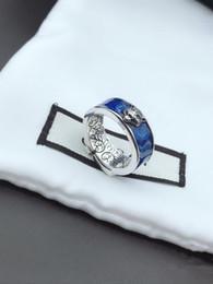 Dare regali online-Hot Shiny Blue Tiger anello capo di lusso personalizzato anello Give You Regalo di Natale Coppia Anello di tendenza con accessori di moda