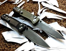 """Teniendo c online-2019 cojinete en un patrón de onda Bugout AXIS cuchillo plegable 3,24"""" blade Munin Damasteel con acero de núcleo VG10 acero capa de Malasia C-Tek Inal"""