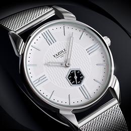 relógios de pulso de quartzo Desconto YAZOLE Novo Padrão de Calor Vender O Homem Relógio de Pulso Moda Lazer Tempo Aço Traga Relógio De Pulso de Quartzo Pulseira de Relógio de Superfície