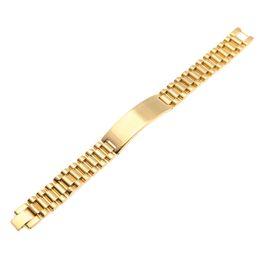 Canada Mens Acier Inoxydable Hip Hop Style Lien Bracelets Or Argent Montre Bande Bracelet De Mode Punk Bijoux 15mm 21mm Offre
