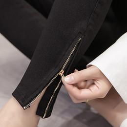 garota gorda negra Desconto Gordura MM200 Tipos de Calças Inferiores na Primavera de 2019 Vestindo Calça Curta Calça Jeans Preta com Cintura Alta e Meninas Magras