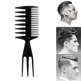 2019 tagli di capelli per gli uomini Double Side Tooth Combs Fish Bone Shape Spazzola per capelli Barbiere per capelli Tintura Taglio Spazzola per colorare Uomo Hair Styling Tool Professionale sconti tagli di capelli per gli uomini