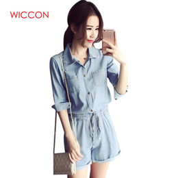 d8f6a3c4fd35 2019 Denim Jumpsuit Girls Women Jeans Playsuit Elastic Waist Sashes With Pockets  Rompers Overalls Plus Size Macacao