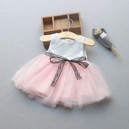 Netzspitze online-MUQGEW 2019 Mädchen Kleid Neugeborenes Baby Mädchen Taste Bownknot Sommer Spitze Net Garn Prinzessin Tutu Kleid Kleidung Vestidos
