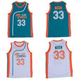 Camisetas de baloncesto 33 online-Flint Tropics Movie Edition # 33 Jackie MOON camiseta de baloncesto bordada