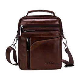 Men Leather Shoulder Bags Solid Color Small Messenger Casual Simple Male  Crossbody Satchel Bag Men s Briefcase New fb073cb1f067d