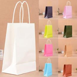 Bolsas de regalo reciclables online-Bolsa de papel con bolsa de papel Kraft amigable con el medio ambiente, 10 piezas