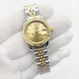 Vente montres fille en Ligne-Vente chaude Femmes Montre Dame Taille 26mm Date Fille Verre Saphir Montre-Bracelet Automatique Mouvement Mécanique Fermoir D'origine