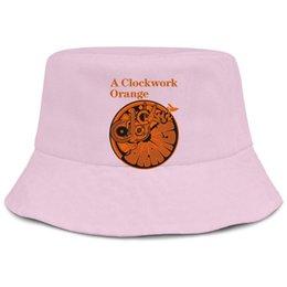 Cappelli montati arancione online-Un orologio da sole arancione logo rosa uomo pesca cappello da sole cappello ben vestita carino unico classico secchio suncap