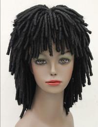 Peluca de lujo del pelo del partido online-ENVÍO LIBRE DE PELO Caliente resistente al calor del pelo del partido Negro estilo africano peluca DREADLOCKS Fancy Dress RUUD GULLIT FYTLG009