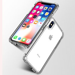 étui iphone Promotion TPU Transparent Gaine De Protection De Téléphone Mobile avec Antichoc Bumper Cas En Silicone Transparent Pour iPhone X Couverture