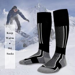 2019 chaussettes à vélo Chaussettes De Ski Hiver Chaud Épais Chaussettes Hommes Femmes En Plein Air Vélo Snowboard Randonnée Sport Épaisses Thermosocks promotion chaussettes à vélo